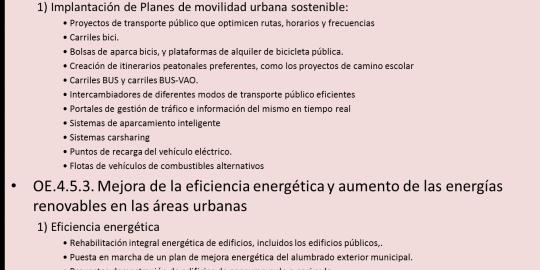Objetivo Temático 4: Economía baja en carbono