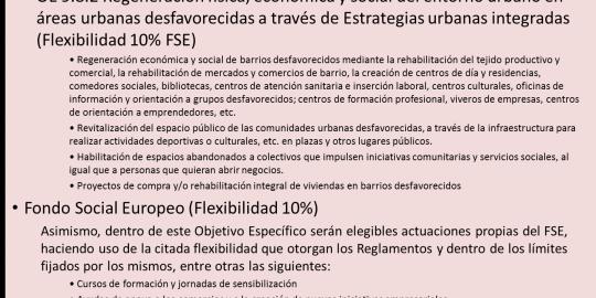 Objetivo Temático 9: Inclusión Social